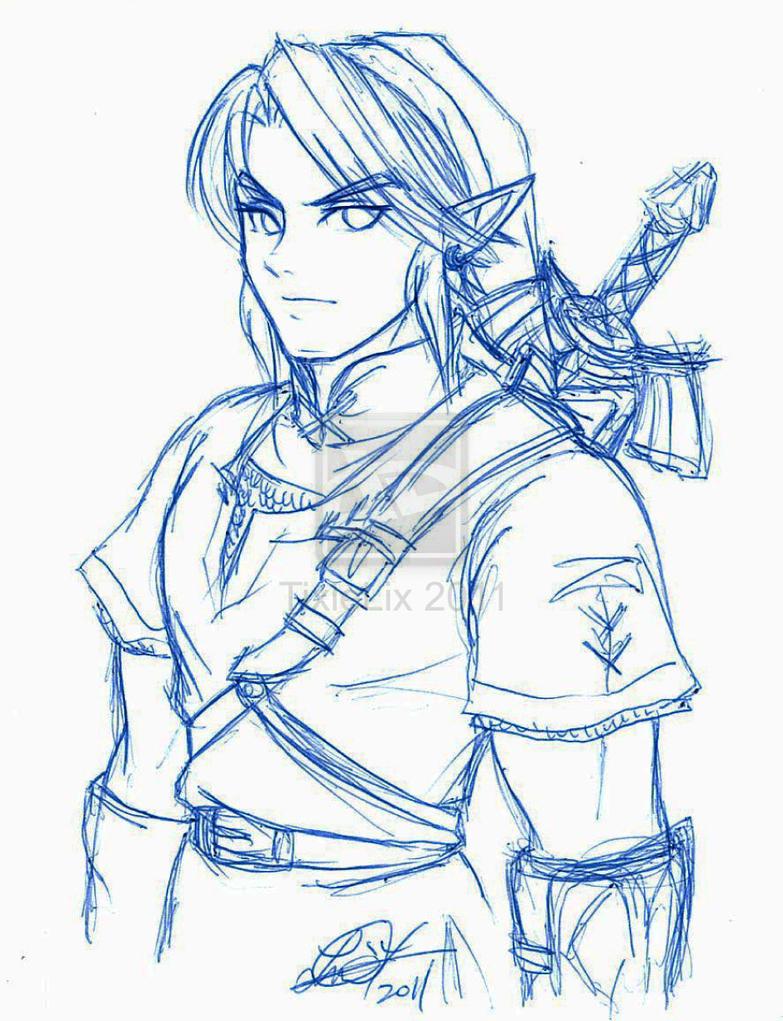 Line Art Zelda : Link rough sketch by tixielix on deviantart