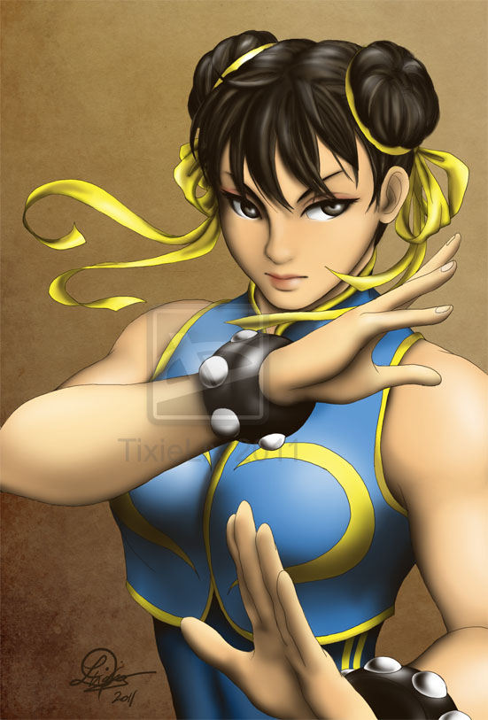 Chun Li is hard to draw... by TixieLix