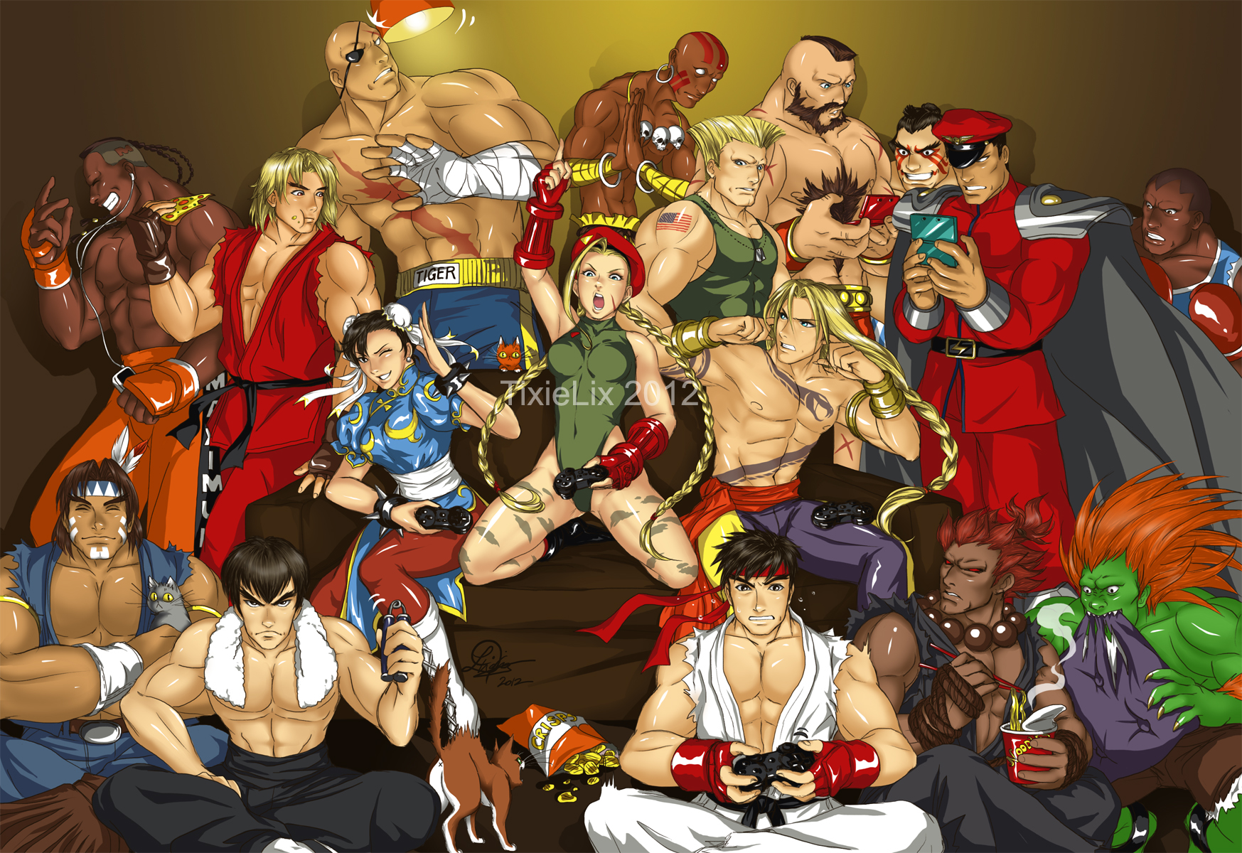 Street Fighters In Your Living Room By TixieLix
