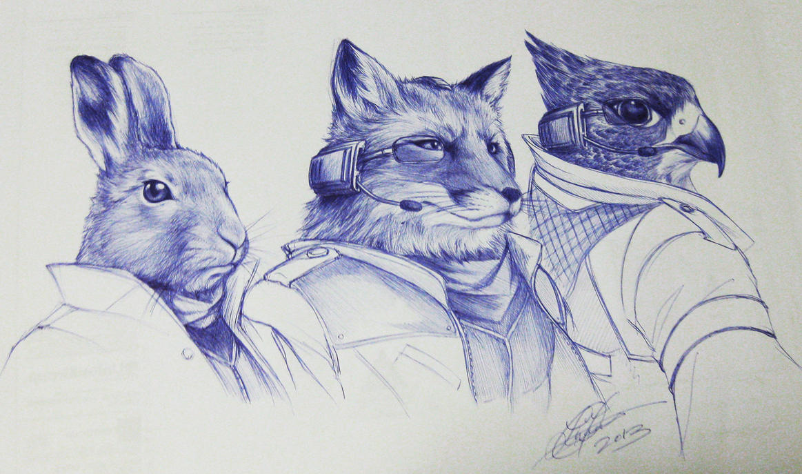 Team Star Fox by TixieLix