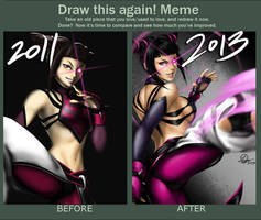 Draw This Again - Juri by TixieLix