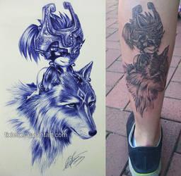 My pen sketch got tattooed :) by TixieLix