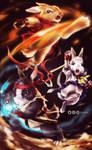Karate Bunnies LOL by TixieLix