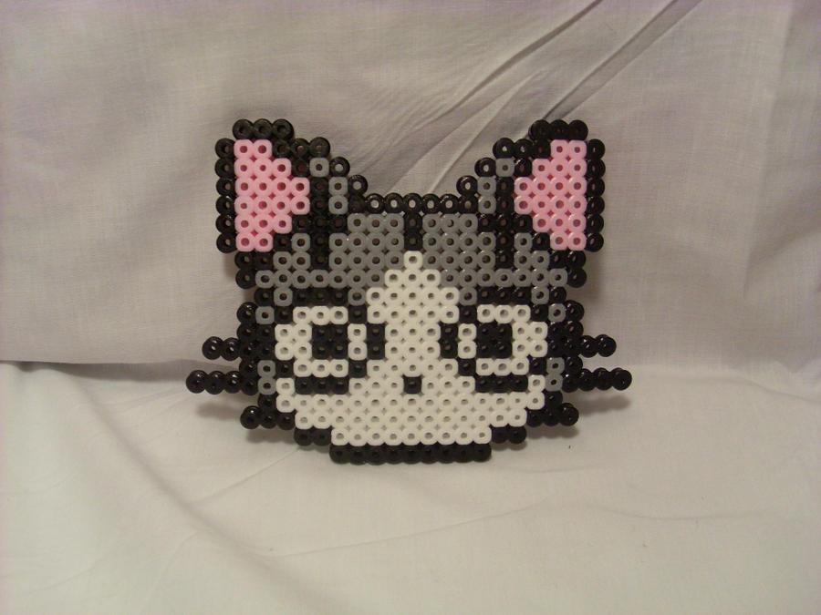 Perler Bead Anime Cat
