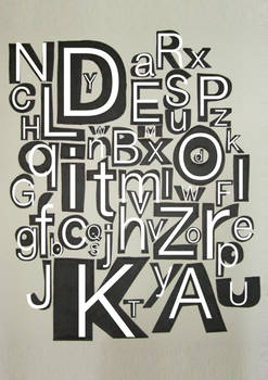 alphabet semi handmade