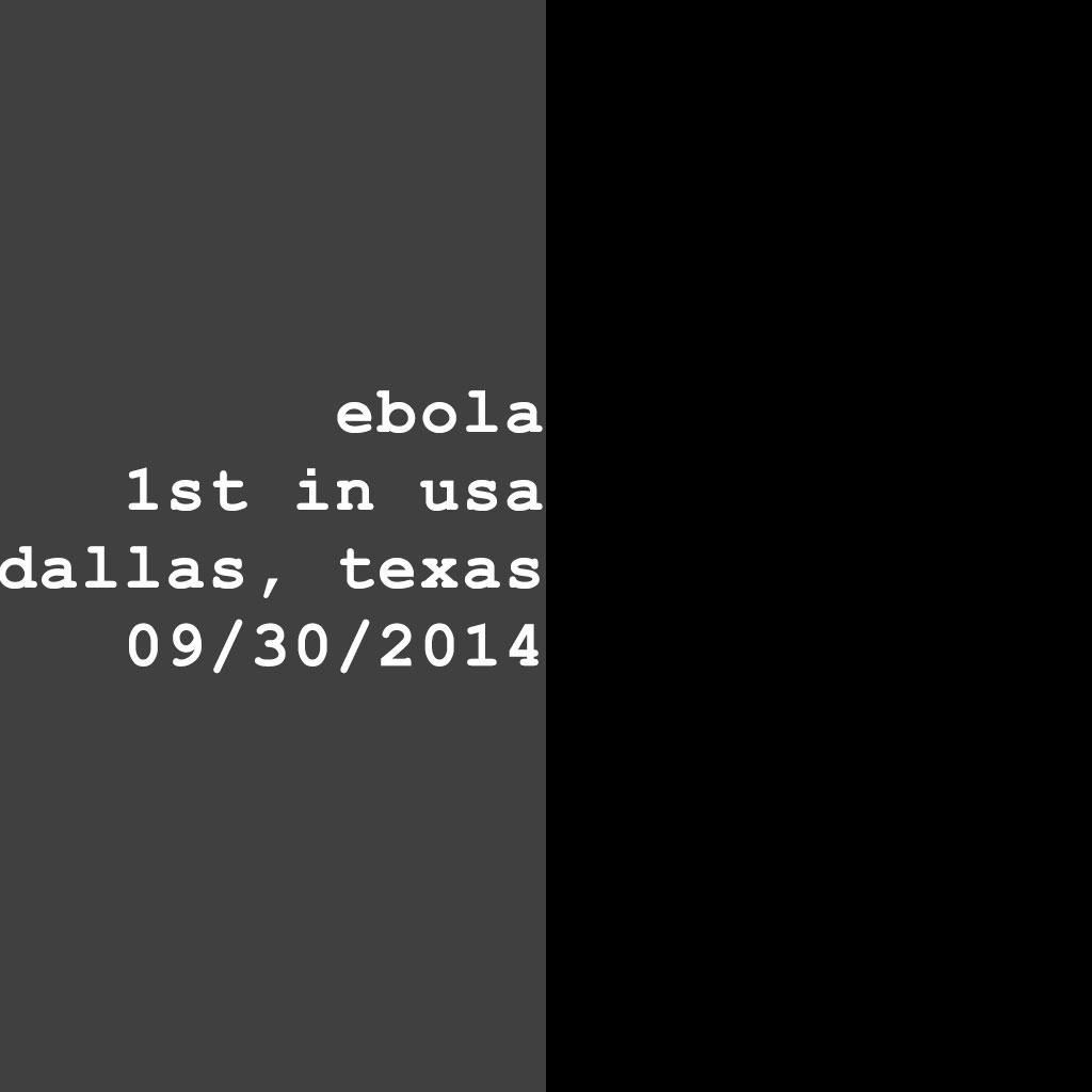 1st ebola usa