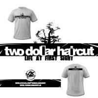 two dollar haircut t-shirt by spicone