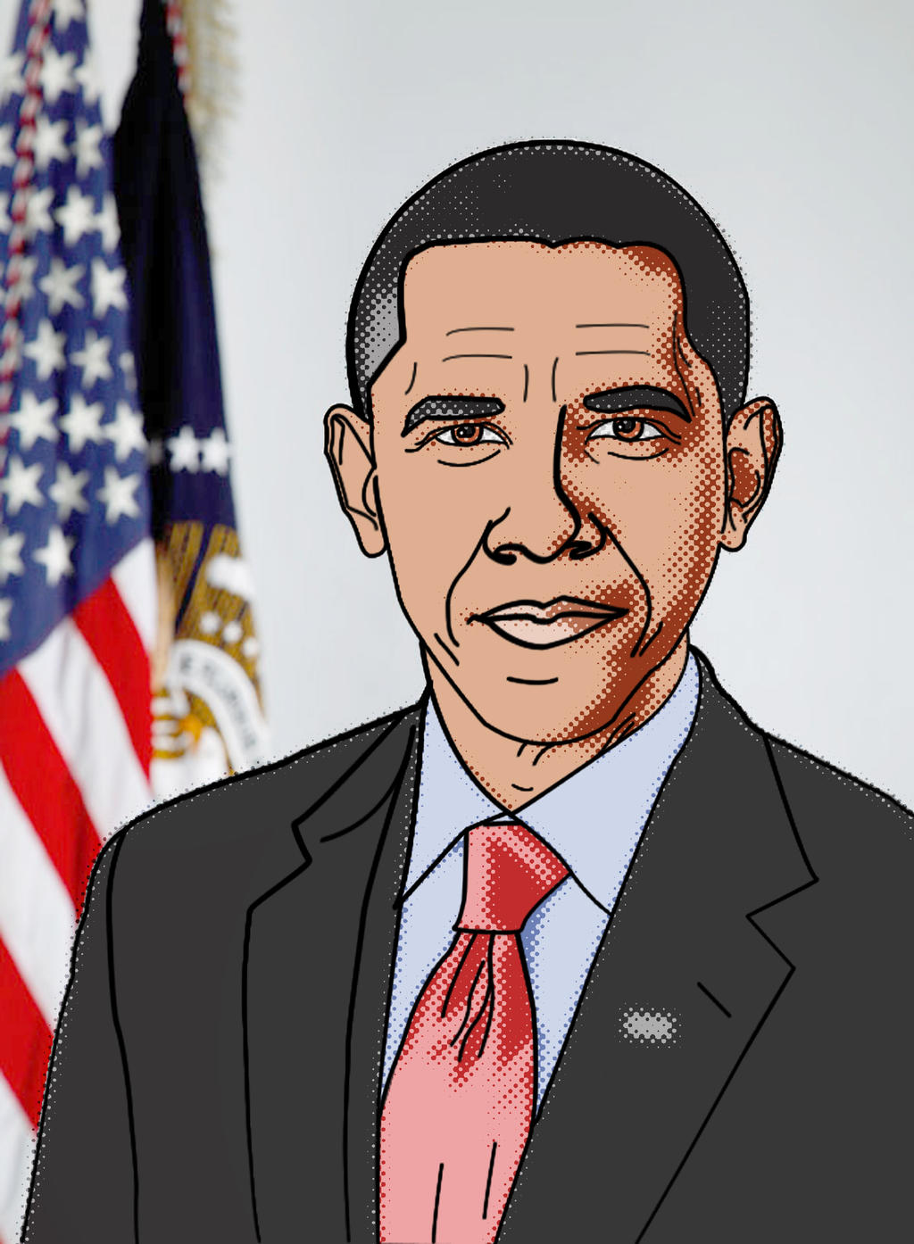 Постер в стиле Obama Hope Уроки Фотошопа