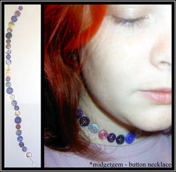 Button necklace by midgetgem