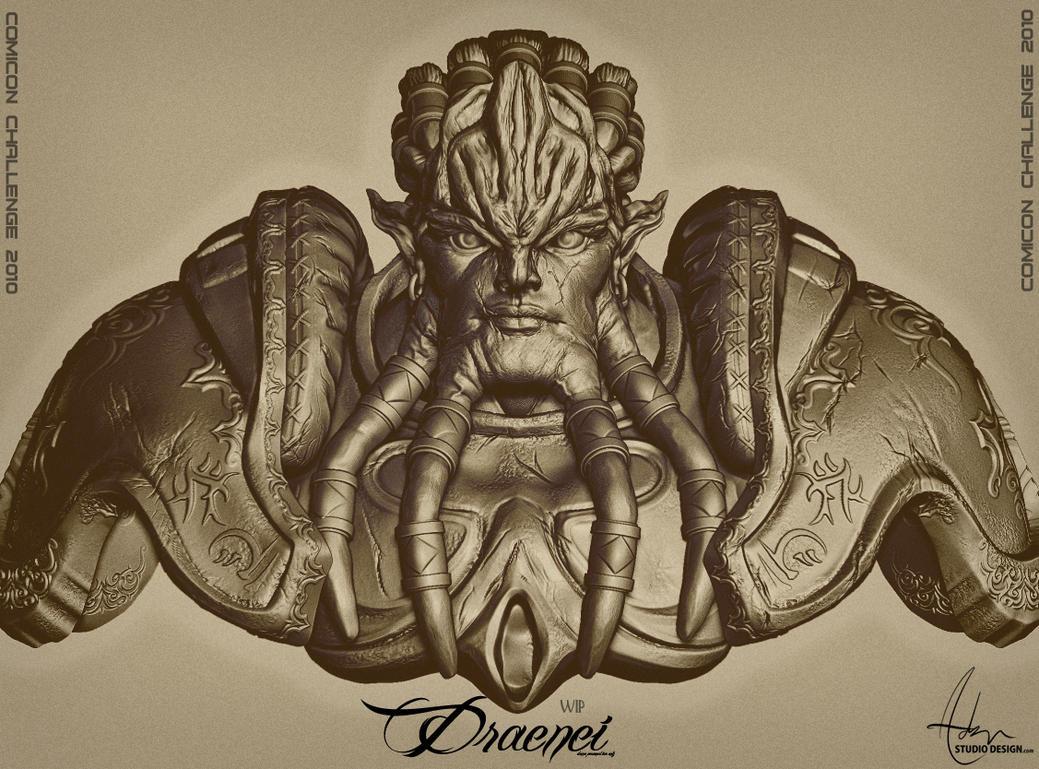 Draenei by Polygonbutcher