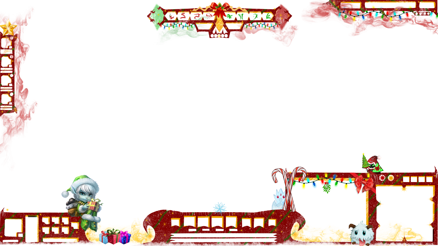 FREE overlay for christmas tristana poro by adream0fsin on