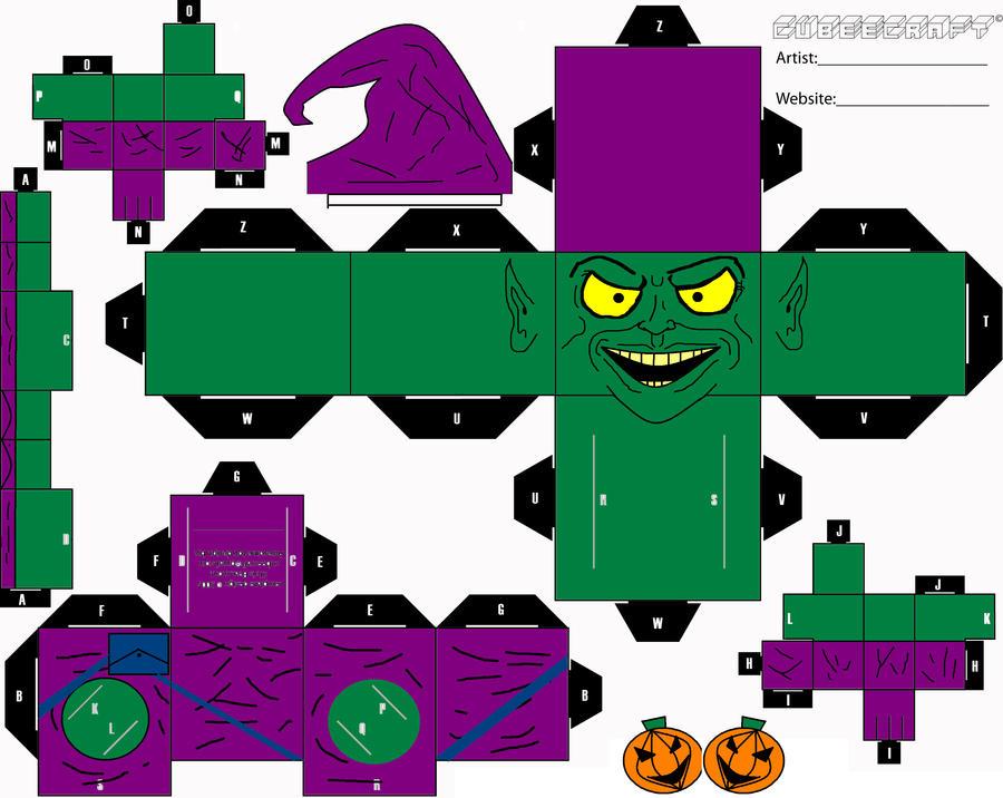 Green Goblin Cubee by ManosHandsofFate