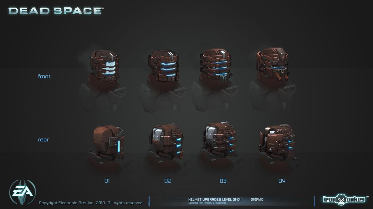Helmet upgrades level 01-04 by shirik