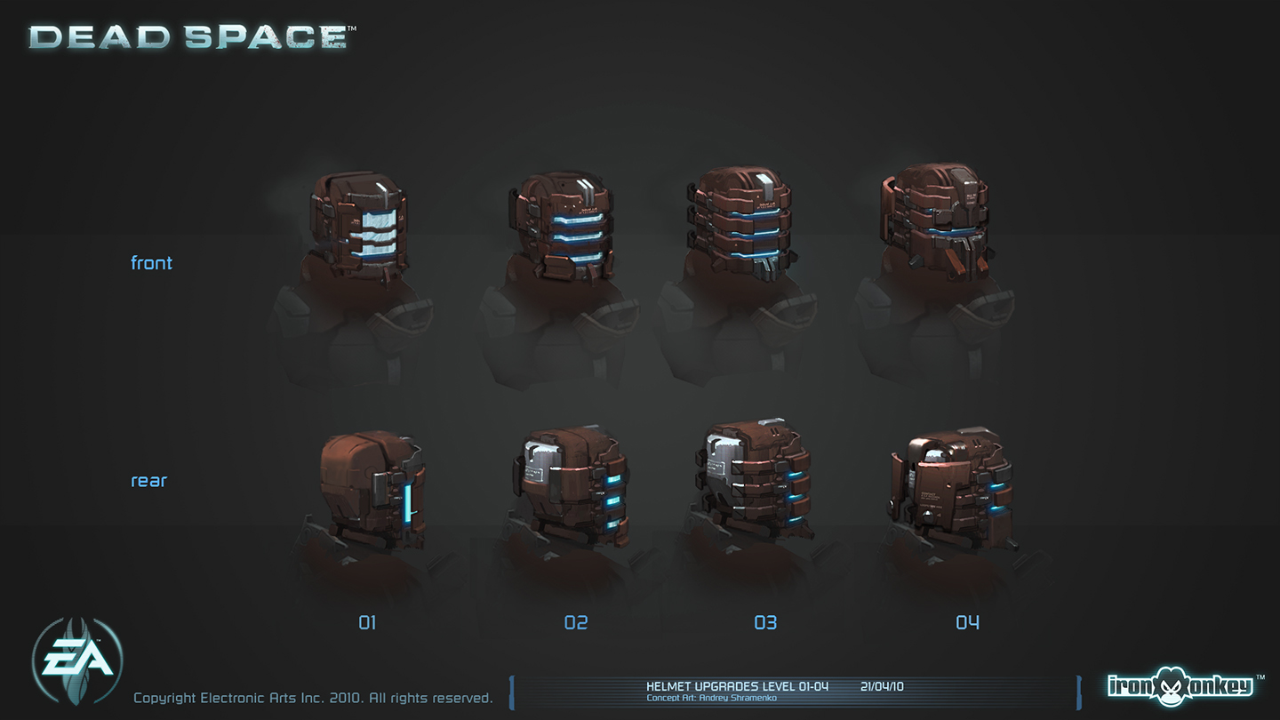 Helmet upgrades level 01-04 by shirik