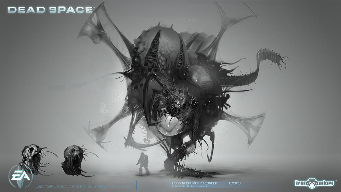 Boss Necromorph Concept by shirik