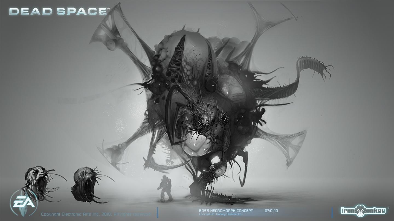 Boss Necromorph Concept by shirik