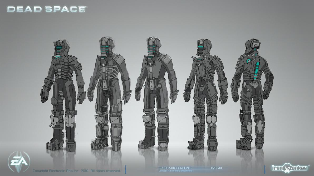 Dead Space - Space Suit Concepts 02 by shirik on DeviantArt