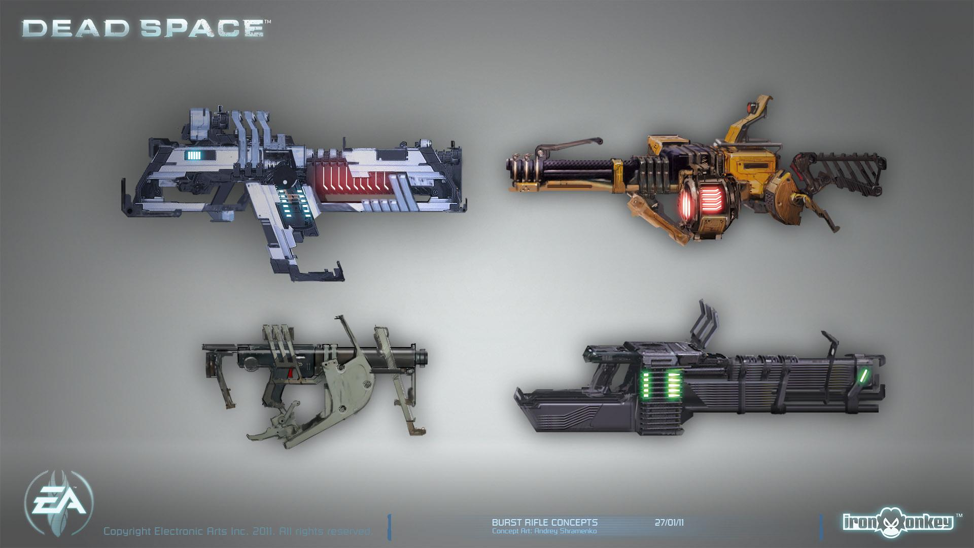 Dead Space - Machine gun concepts by shirik on DeviantArt
