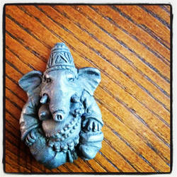 Ganesh Pendant by stoneindian