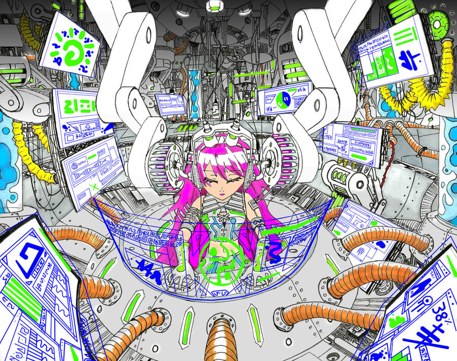 I have become the computer (Edited and Colored) by El-Tezcatlipoca