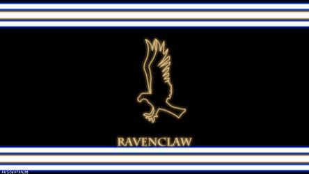 Ravenclaw House Neon Wallpaper