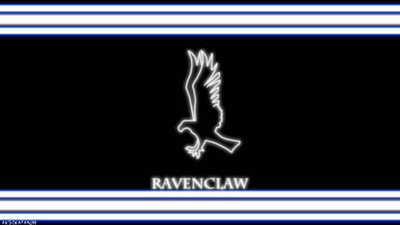 Ravenclaw House Neon Wallpaper (movie)