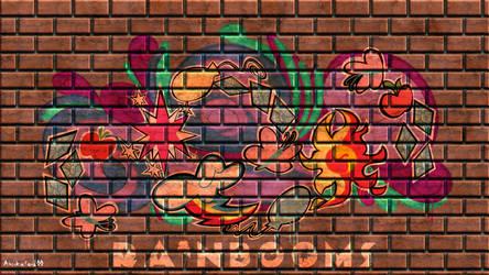 Rainbooms Wallpaper