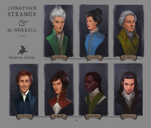 Jonathan Strange and Mr Norrell Characters by aveagore