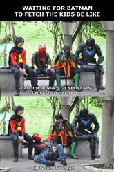 Batboys waiting for Batman by Atesazuya
