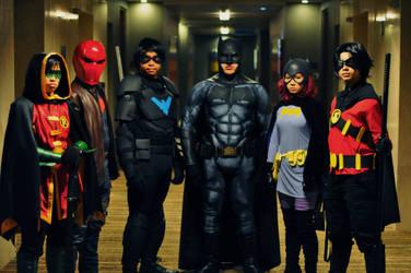 Batfam Family Picture by Atesazuya