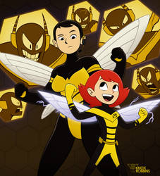 Two Little Stingers (Marvel) by KnoxRobbins