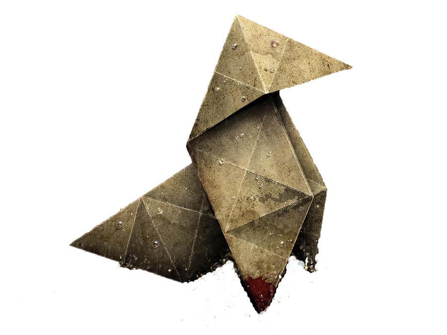 Heavy Rain Wallpaper I made! Heavy_rain_origami_by_squall_darkheart-d3fn76g