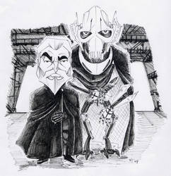 Count Dooku and Grievous by G1d4n