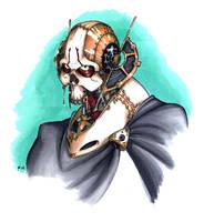 Steampunk Grievous portrait by G1d4n