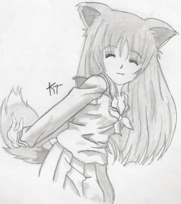 how to draw a fox girl