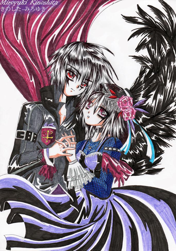 Dark anime couple by miroyuki kinoshita on deviantart - Dark anime couples ...