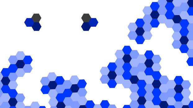 Abstract Hexagon design