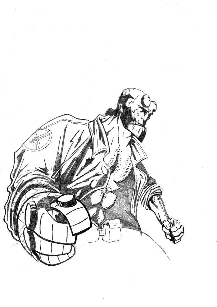 hellboy sketch by tomorrow78