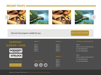Simple Website Footer Design by itsWrongGuy