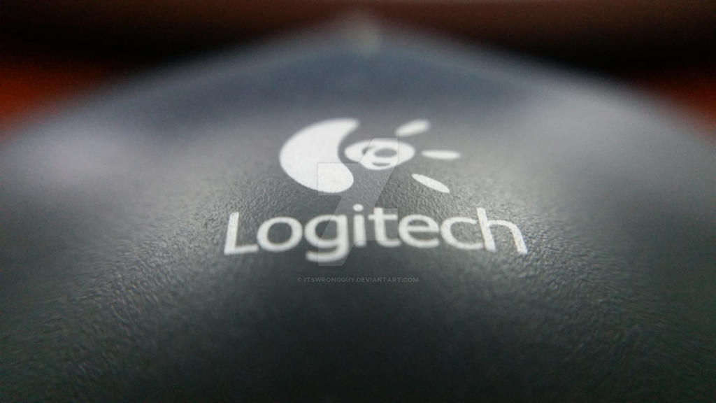 Magnified Logitech Logo on Mouse by itsWrongGuy