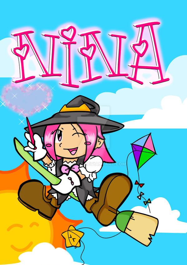 Nina, cover of a notebook by XiNoka