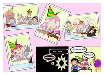 Nina's fisrt page portuguese by XiNoka