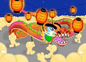 Chinese dragon by XiNoka