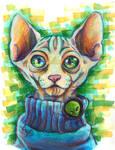 feline pretty alien