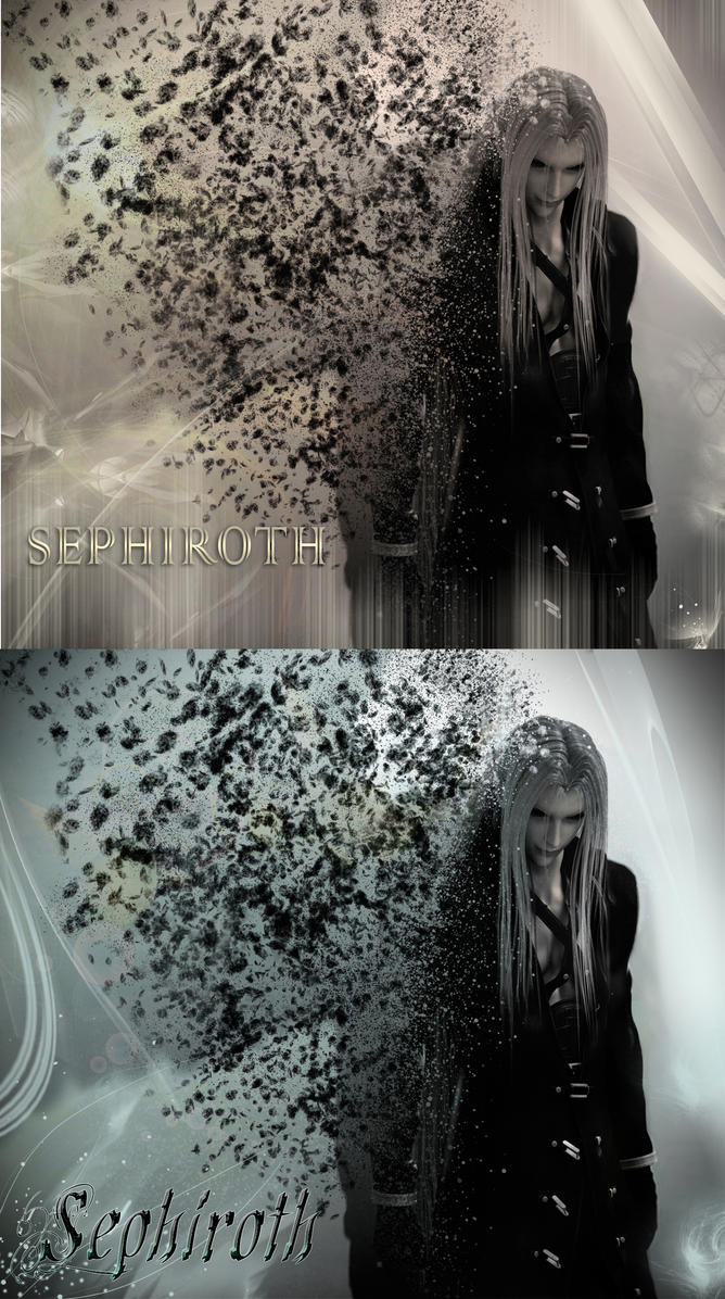 Sephiroth  Style Gold and Silver by akonyah