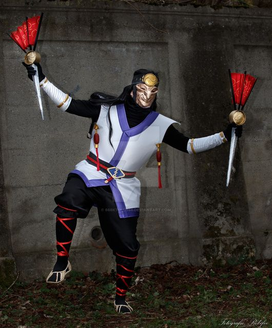 masked shaco cosplay league of legends by 666ktulu666 on
