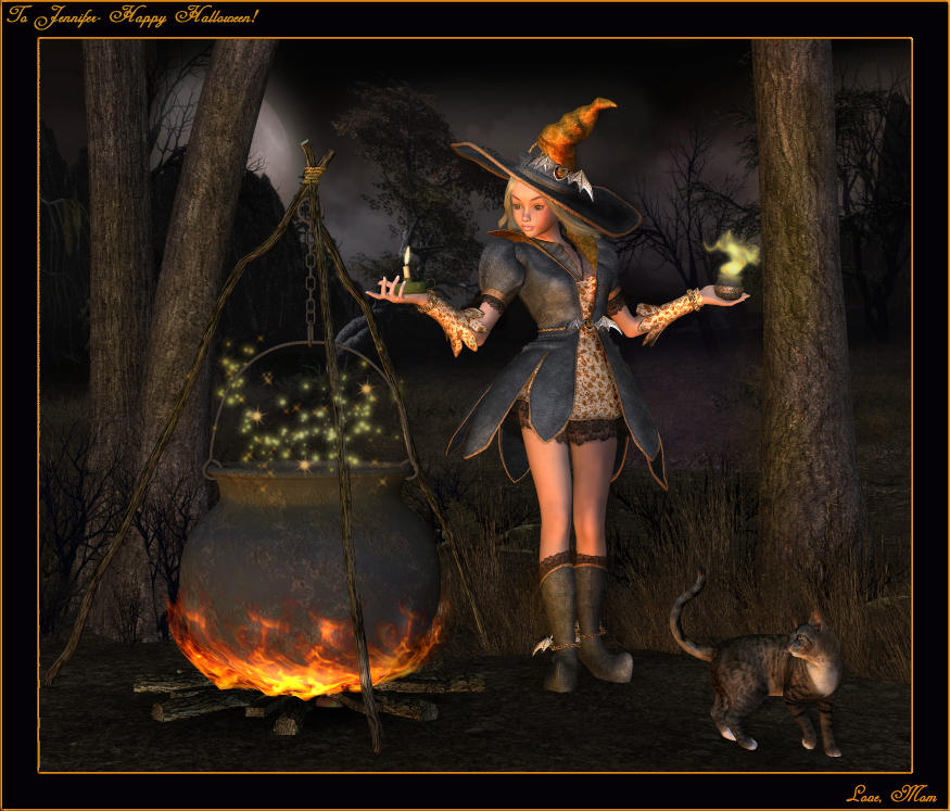 animated halloween wallpaper witches - photo #3