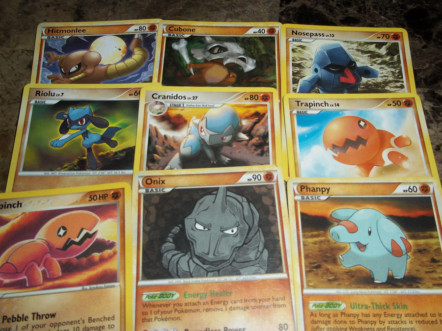 fighting pokemon card ~set 1~-for sale/trade- by goddessofdragon on DeviantArt