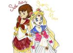 Sailor Astarte and Sailor Moon