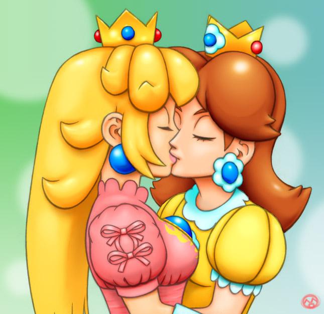Princess peach naked kiss daisy